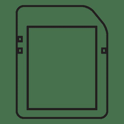 Armazenamento de cartão de memória Transparent PNG