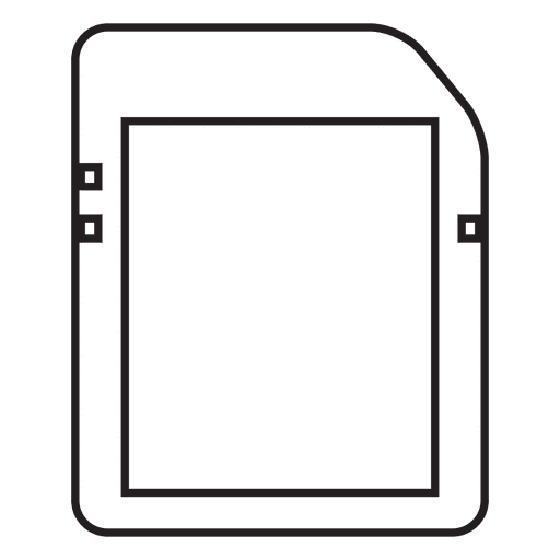 Memory card storage Transparent PNG