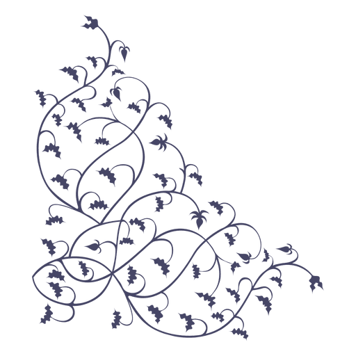 Ornament corner branches hanged Transparent PNG