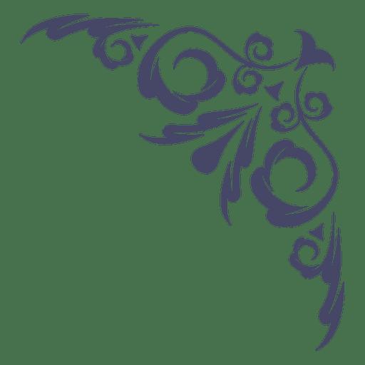 Ornamentl swirl corner Transparent PNG