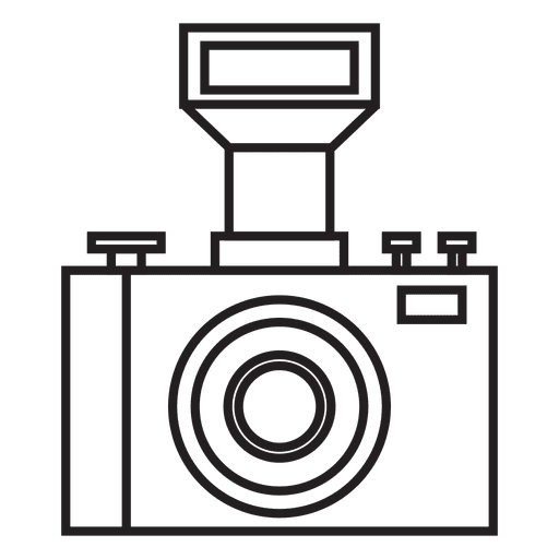 Photo camera with flash icon