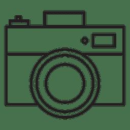 Frente da câmera de foto