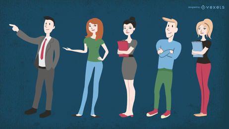 Ilustrações de pessoas de negócios