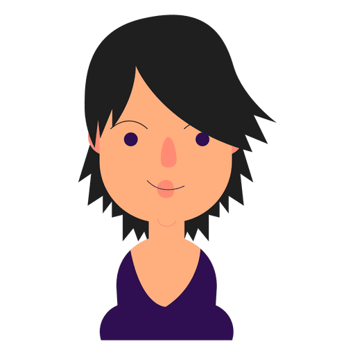 purple eyes short hair cleavage transparent png amp svg vector