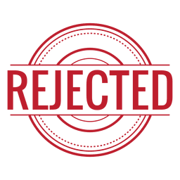 Rejected red rounded