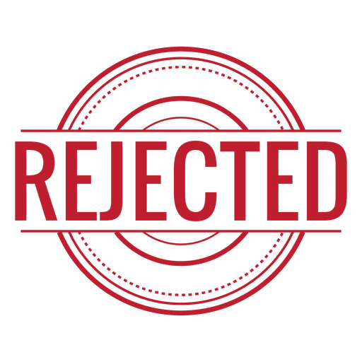 Rejected red rounded - Transparent PNG & SVG vector