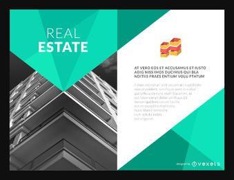 Immobilien Flyer Gebäudevorlage