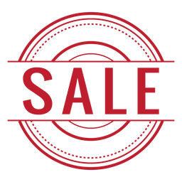 Sale red rounded