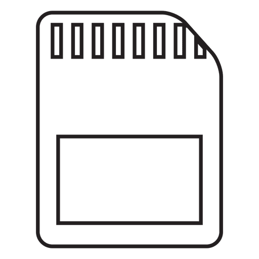 Secure digital sd card memory stroke icon Transparent PNG