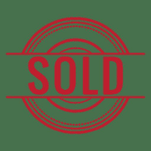 Verkauft rot gerundet Transparent PNG