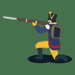 Soldado de la confederación argentina de bayoneta.