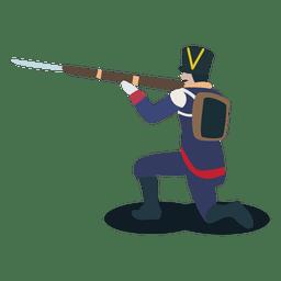 Soldado confederación argentina pistola bayoneta