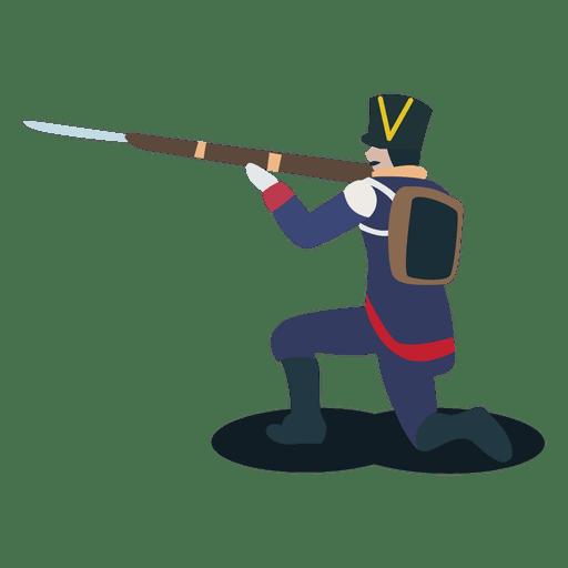 Soldier argentine confederation gun bayonet Transparent PNG