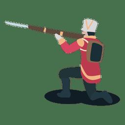 Soldado colorados pistola bayoneta