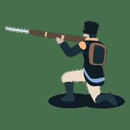 Soldado provincias unidas del arma de bayoneta