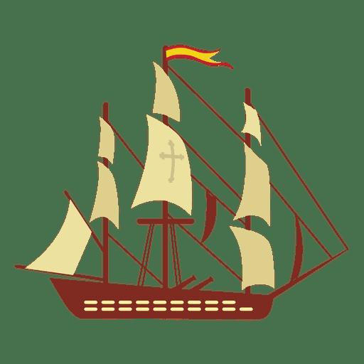 Spain warship sails wind drive Transparent PNG