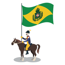 Standard bearer brazil empire officer
