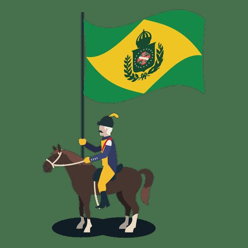 Standard bearer brazil empire officer Transparent PNG