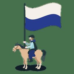 Padrão portador Horseman nacional do partido