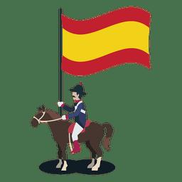 Oficial de portador de espanha