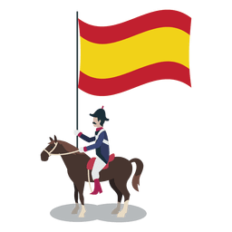 Standard bearer spain officer