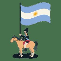 Soldado de Uruguay del portador estándar
