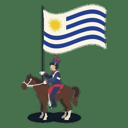 Oficial de portador de uruguai padrão