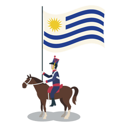 Oficial de uruguay portador estandar