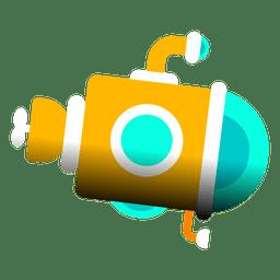 Submarine plunge ocean