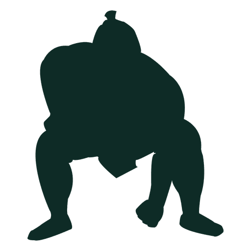 Sumo wrestling heavyweight hand down Transparent PNG