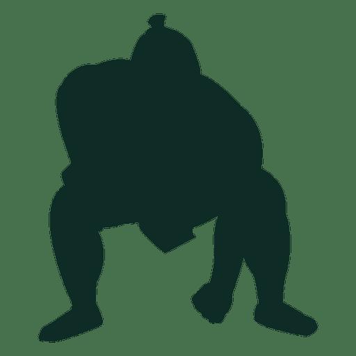 Sumo wrestling heavyweight hand down