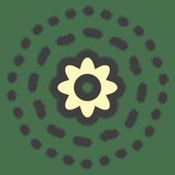 Flor de flotador de nenúfar