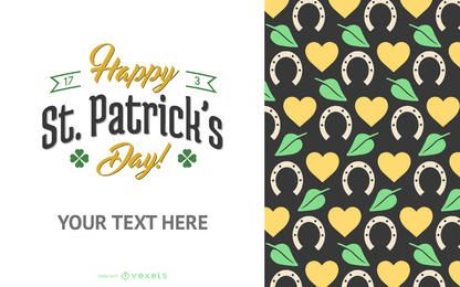 St Patrick's Day poster maker