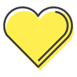 Amistad de corazón amarillo feliz