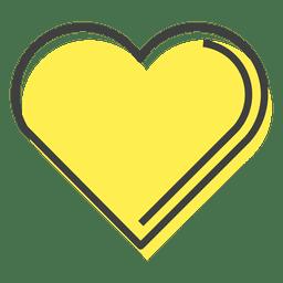 Amizade coração amarelo feliz