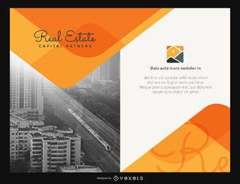 Laranja de modelo imobiliário