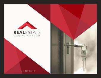 Maqueta de flyer de inmobiliaria