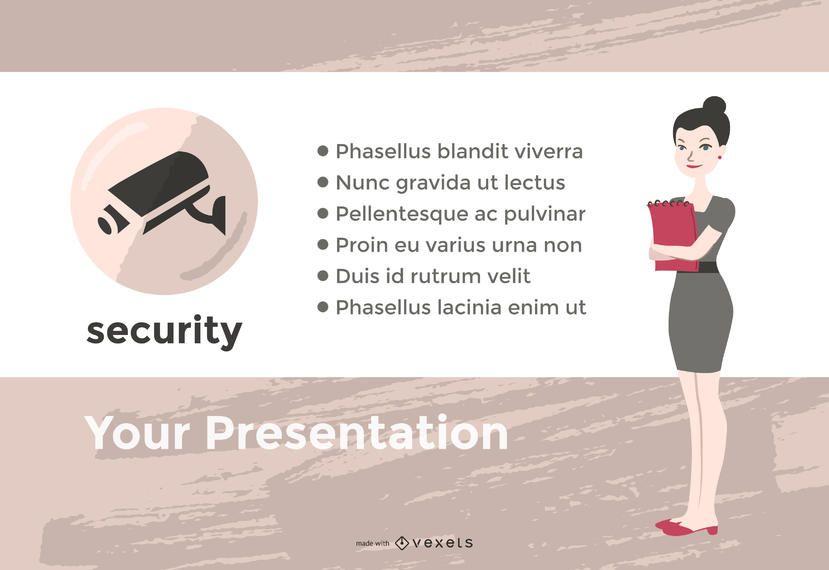 Fabricante de slides de apresentação de escritório