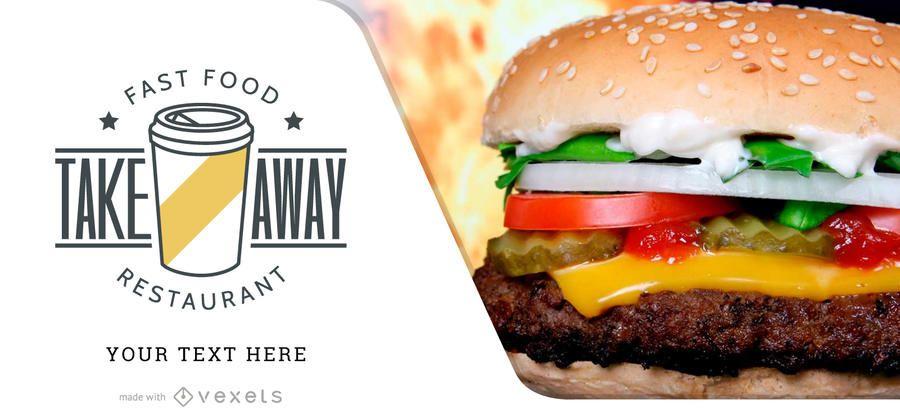 Promocional promocional de fast food