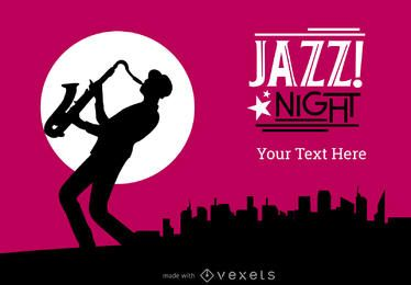 festival de jazz ou o fabricante poster do concerto