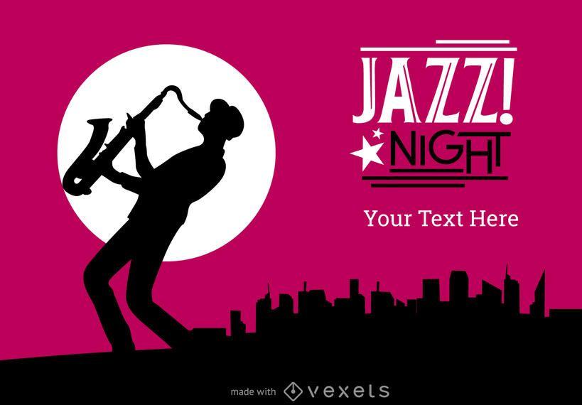 Festival de jazz o creador de cartel de concierto