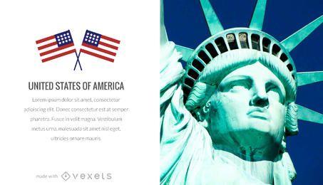 Fabricante de cartaz patriótico dos Estados Unidos