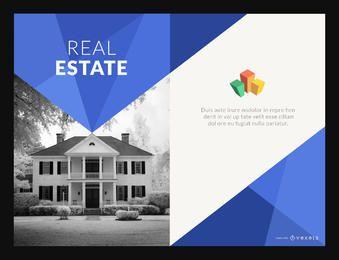 Cartel de bienes raíces o fabricante de folletos