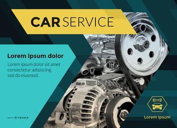 Fabricante de cartazes de serviço de carro