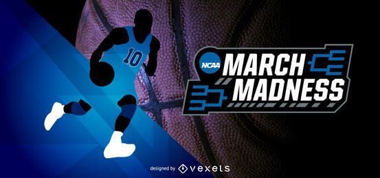 Cabeza de juego de baloncesto de la locura de marzo