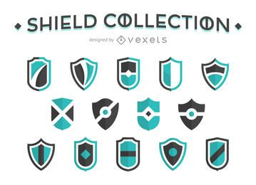Flat shield collection