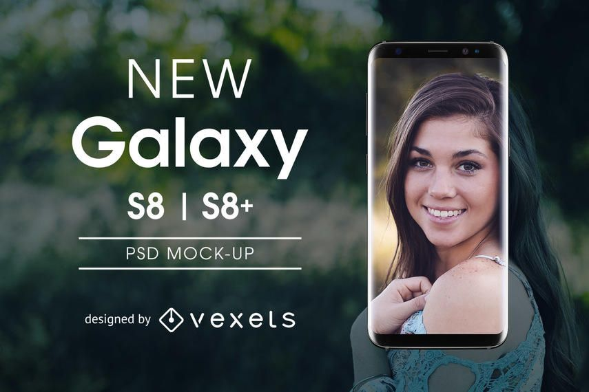 Maqueta de Samsung Galaxy S8 PSD