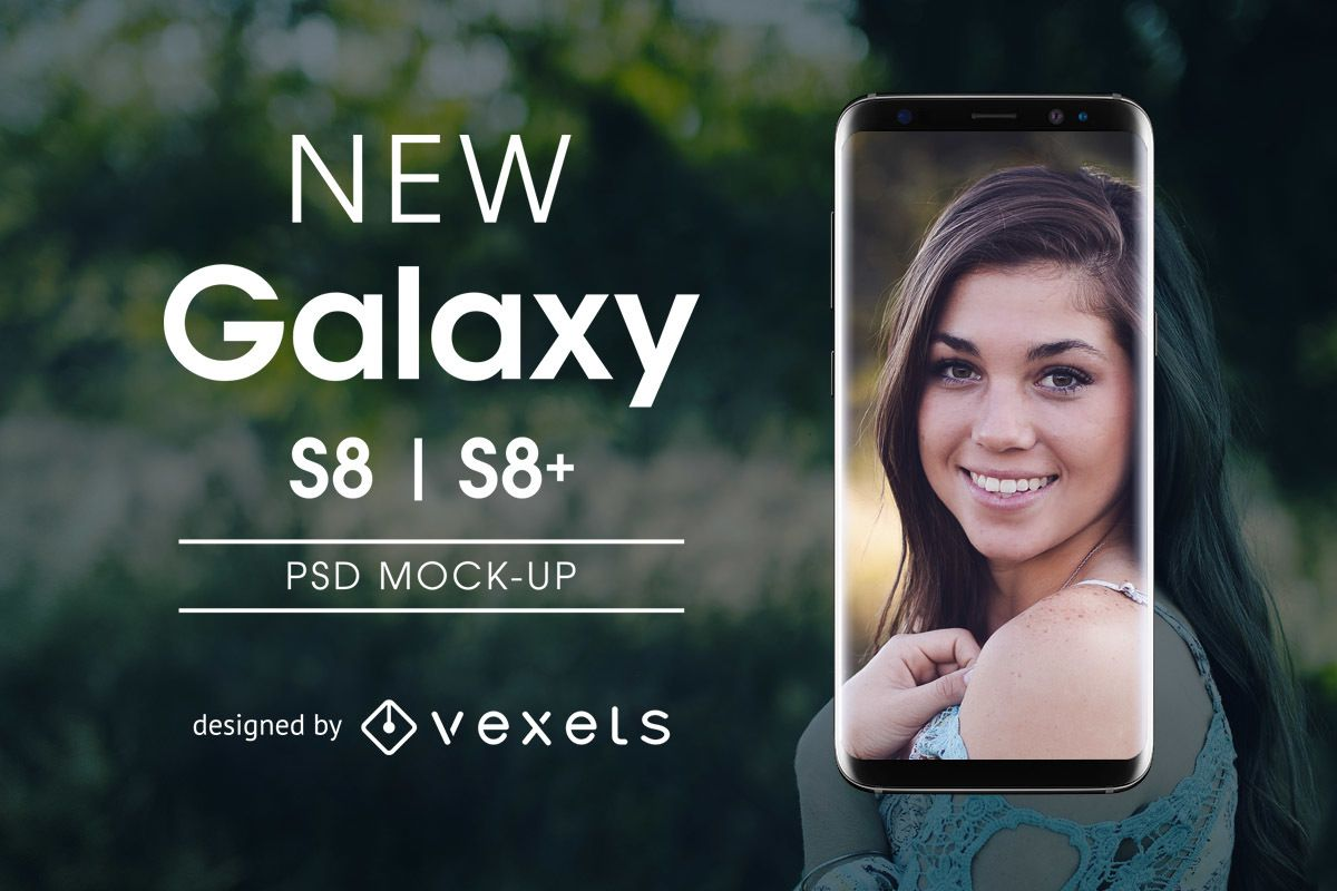 Maquete PSD Samsung Galaxy S8