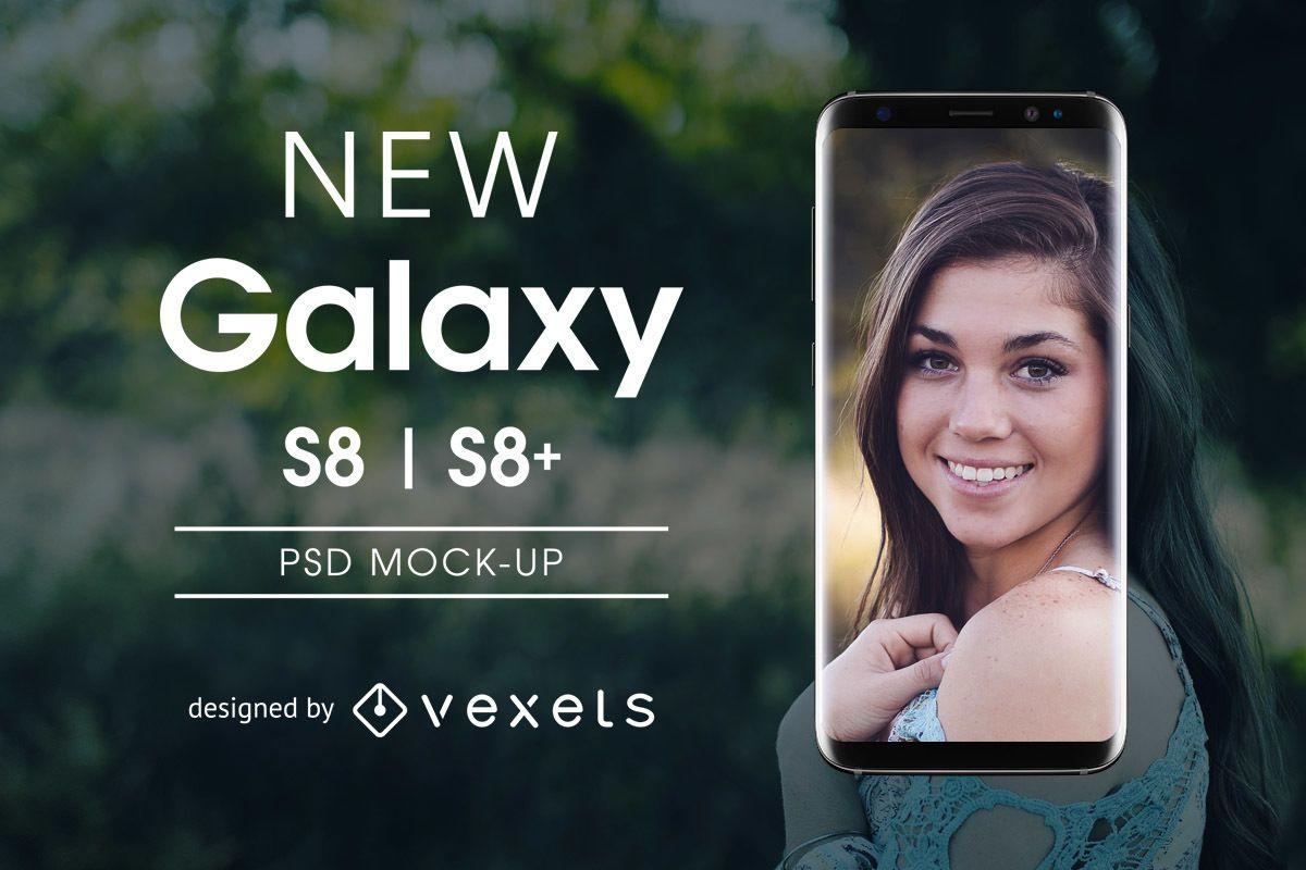 Mockup de Samsung Galaxy S8 PSD