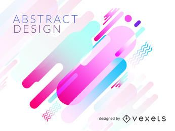 Abstract shapes background in pastel tones